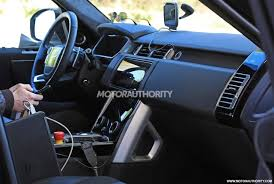 2018 land rover range rover interior. simple land 2018 land rover range facelift spy shots  image via s baldaufsb intended land rover range interior