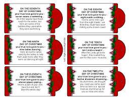 Silly 12 Days of Christmas Printable Tags 7 - 12