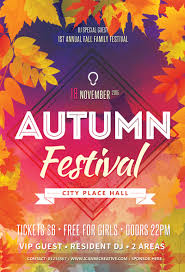 psd flyer templates for autumn Сelebration party icanbecreative psd flyer template