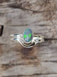 Design Your Own Opal Engagement Ring Custom Solid Opal Ring Or Necklace In Silver