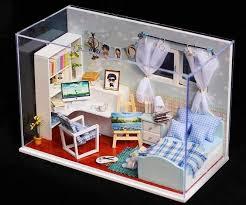 dollhouse 3d light led caja de música y cubierta kit miniaturas del corazón del océano