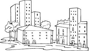 Small Picture Free Buildings Coloring Pages