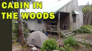 cabin camping in the woods. Cabin In The Woods Camping, Part 1 - Refuge Hut Campsite Camping