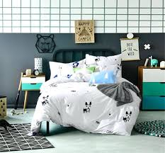 dog bedding set plain printed comforter cover cotton queen sized bed sheets boxer
