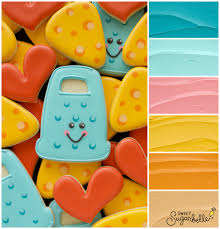 Youre Grate Punny Cheese Grater Cookie Icing Color Palette