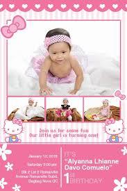 Hello Kitty Invitation Turning One Hello Kitty Pink Invitation Layout Design Get
