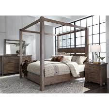 Shop Sonoma Road Weather Beaten Bark King Canopy Bed - On Sale ...