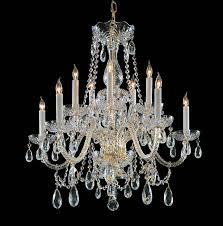 crystorama traditional crystal 10 light polished brass crystal chandelier dd in clear hand cut crystal lighting etc