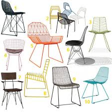 1 carbon chair 987 from hive 2 hot mesh chair 119 from blu dot 3 leaf side chair 420 from hive 4 harry wire chair 99 from industry w