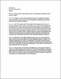 outline essay why has martin luther king jr s dream of ldquo peace outline essay 4 why has martin luther king jr s dream of ldquopeace and brotherhoodrdquo yet to become a r alex baron en 101 outline essay 4 racism
