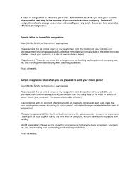 good letter of resignation best resignation letters samples letter one month notice period
