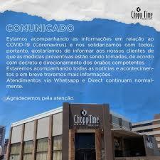 Chopp Time João Pessoa - Informamos a todos que estamos tomando todas as  precauções. Esperamos vê-los em breve! 😊 #chopptime #coronavirus  #coronavirusbrasil #precaução