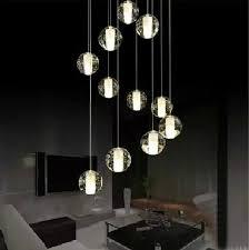 multi light pendant lighting. modern led crystal pendant lamp multi light linear suspension bubble ball lighting c