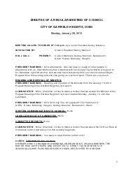 Garfield Heights Ovi Chart Departmental Overview