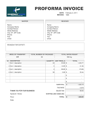 Quotation Proforma Format Samples Of Proforma Invoice Invoice Template Free 2016 Meaning