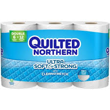 Quilted Northern Ultra Soft & Strong with Cleanstretch Double Roll ... & Quilted Northern Ultra Soft & Strong with Cleanstretch Double Roll Toilet  Paper, 176 sheets, Adamdwight.com