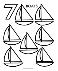 Small Picture Coloring Pages Of Number 7 Coloring Coloring Pages