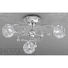 franklite fl2214 3 orion chrome 3 light flush ceiling light