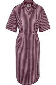 Topshop Unique Tiller Oversized Striped Cotton Shirt Dress In Pink