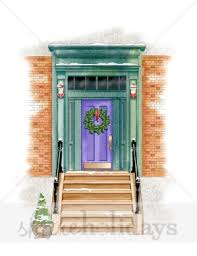 front door clipart. Christmas Front Door Clipart City | Winter N