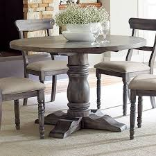round kitchen table by progressive furniture muses 48 in in gray oak