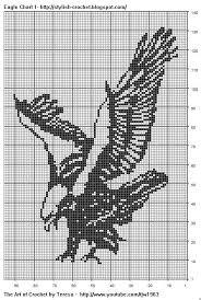 Free Filet Crochet Charts And Patterns Filet Crochet Eagle
