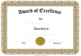 Certificate Of Excellence Template Word Exceptional And Editable Award Of Excellence Certificate Template 17