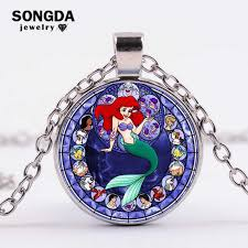 SONGDA Cartoon <b>Baby Girls</b> Little Mermaid <b>Princess Ariel</b> Necklace ...