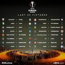 ผลจับสลากฟุตบอลยูโรป้า ลีก รอบ 32 ทีมสุดท้าย 2016-17