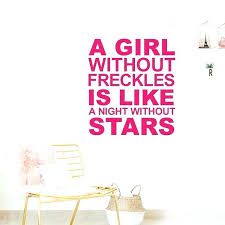 wall decal letters plus free a face without freckles vinyl wall decal stickers letters girls