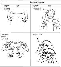 Summer Clothing Sign Language Asl Sign Language Sign
