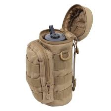 <b>Outdoors Molle Water Bottle</b> Pouch Tactical Gear Kettle Waist ...