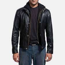 mens highschool black leather jacket 1
