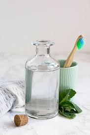 make this essential oil mouthwash say hello to minty fresh breath