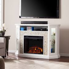 52 25 redden corner convertible electric a fireplace white faux stone