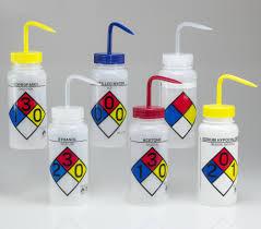 Bel-Art Safety-Labeled Assorted <b>4</b>-<b>Color</b> Wide-Mouth Wash Bottles ...