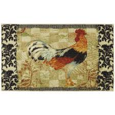 Rooster Rugs For Kitchen Mohawk Home Bergerac Rooster Neutral 2 Ft 6 In X 3 Ft 10 In