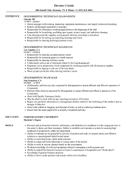 Stocking Resume Examples Lead Housekeeping Resume Samples Velvet Jobs 20