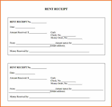 Rent Receipts Forms Template Business