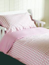 pink gingham bedding set saplings