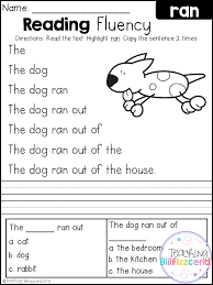 FREE Kindergarten Reading Fluency and Comprehension ...