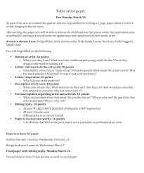 009 Tableartistpaper Examples Of Interview Questions For