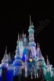 Castle Christmas Lights Christmas Disney Castle With Lights 8x10 20 00 Via Etsy