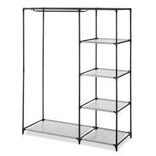whitmor 46 25 in x 58 25 in plastic garment rack closet system