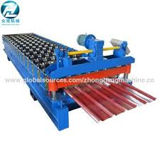 china electric cutting galvanized steel corrugated iron roofing sheet making machine