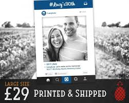 printed instagram frame wedding booth birthday photobooth prop