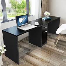 office desktop cabinet. Modren Office Tribesigns Double Workstation Computer Desk With Filing Cabinet U0026 Drawers  78 Inch  Length Office Extra Large For Two Person Modern Simple Style Fit  In Desktop