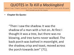 Important Quotes From To Kill A Mockingbird Inspiration Chapter 48 Title Ppt Download