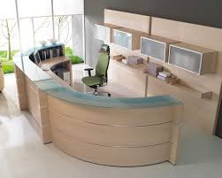 ergonomic office reception chairs with curved glass top desk