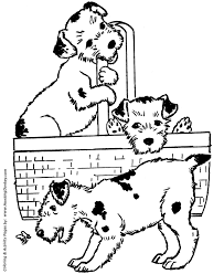 Small Picture Dog Coloring Pages Printable Puppies in a basket coloring page
